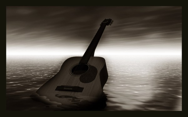 Lonely Guitar by brewer23
