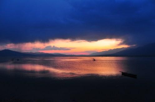 Kerkini Lake Sunset After Storm